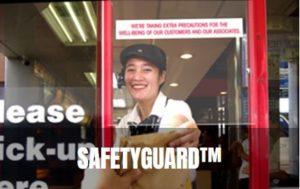 Plexiglass cashier protector