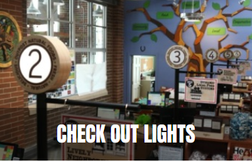 check out lights