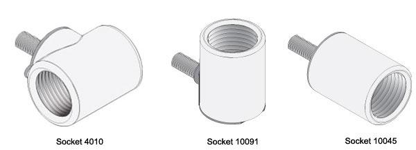 Power pole sockets