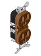 Power Pole Duplex Receptacle